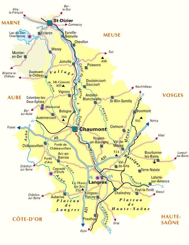 D partement 52 voyages cartes for Plan de la vienne 86000
