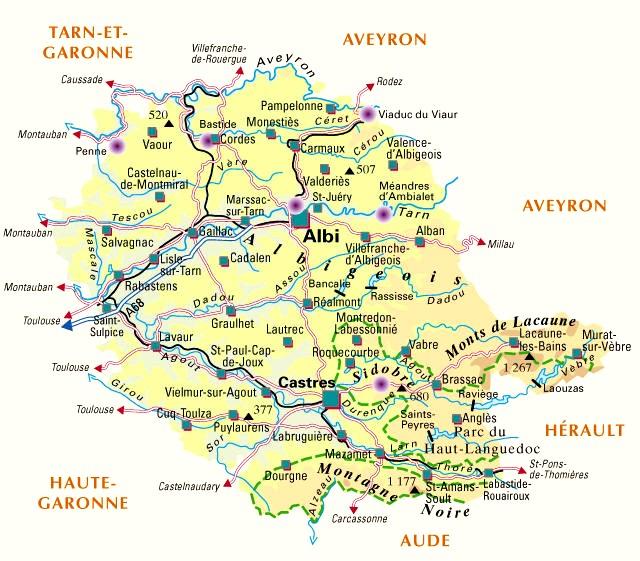 Departement du tarn 81 for Lieux touristiques yvelines