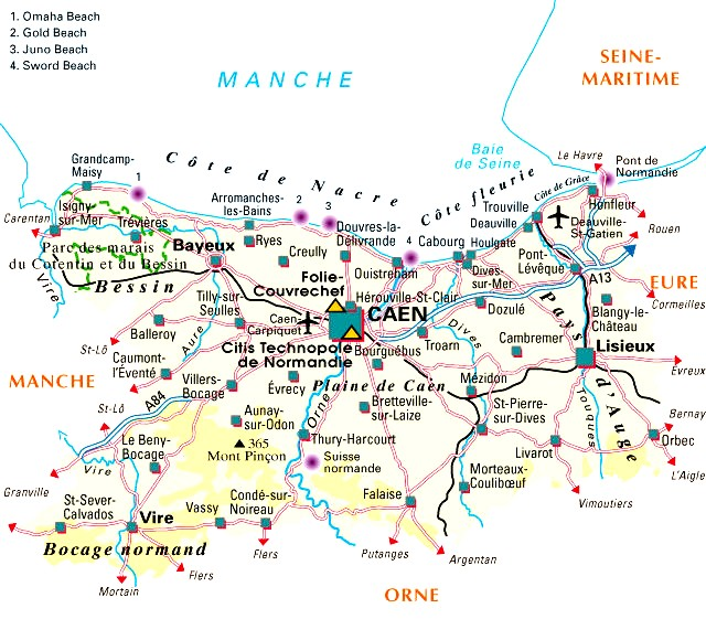 Carte Departement Calvados (14)