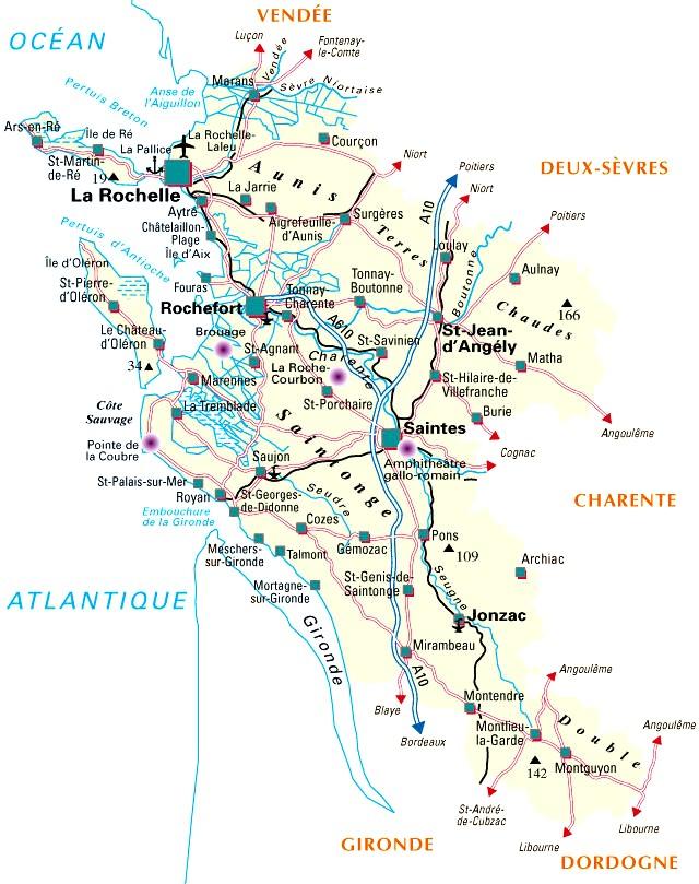 carte de france charente maritime