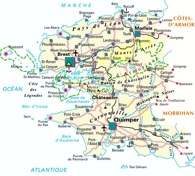 ▷ Carte / Plan du Departement Finistere (29)