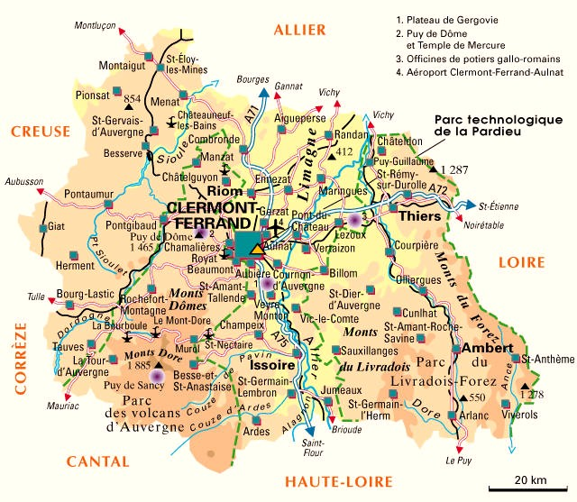carte du puy de dome