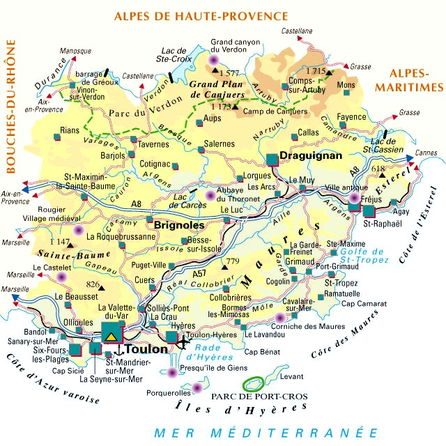 carte de france departement 83